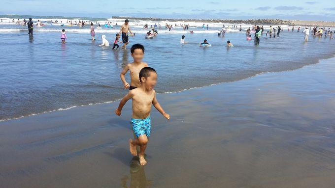 家族で海遊び