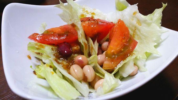 コープ 野菜たっぷりドレッシング 野菜にかけてお皿に盛った状態