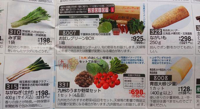 コープデリの野菜セット