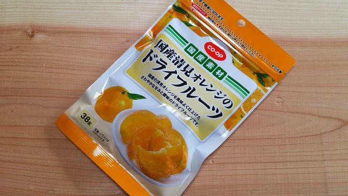 コープ 国産清見オレンジのドライフルーツ パッケージ