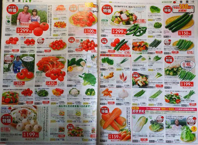 おうちコープのカタログ 野菜1