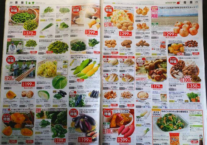 おうちコープのカタログ 野菜2