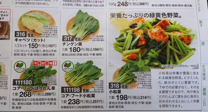 パルシステムの野菜例