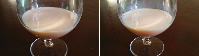 そいっちをグラスに注いで確認