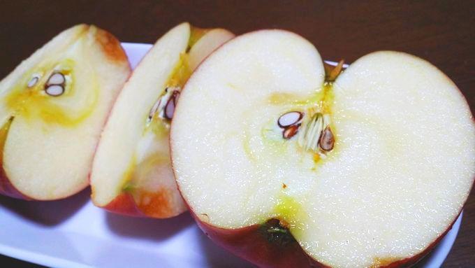 オイシックスの小玉リンゴの切り口
