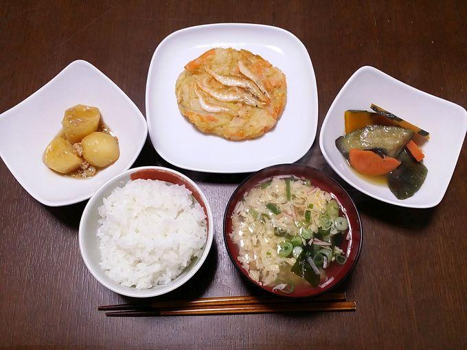 わんまいる「健幸ディナーお試しセット」福井県産 白えびのせかき揚げセット 調理後