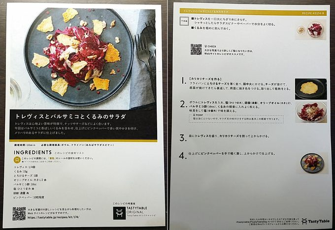 TastyTableのレシピ トレヴィスとバルサミコとくるみのサラダ