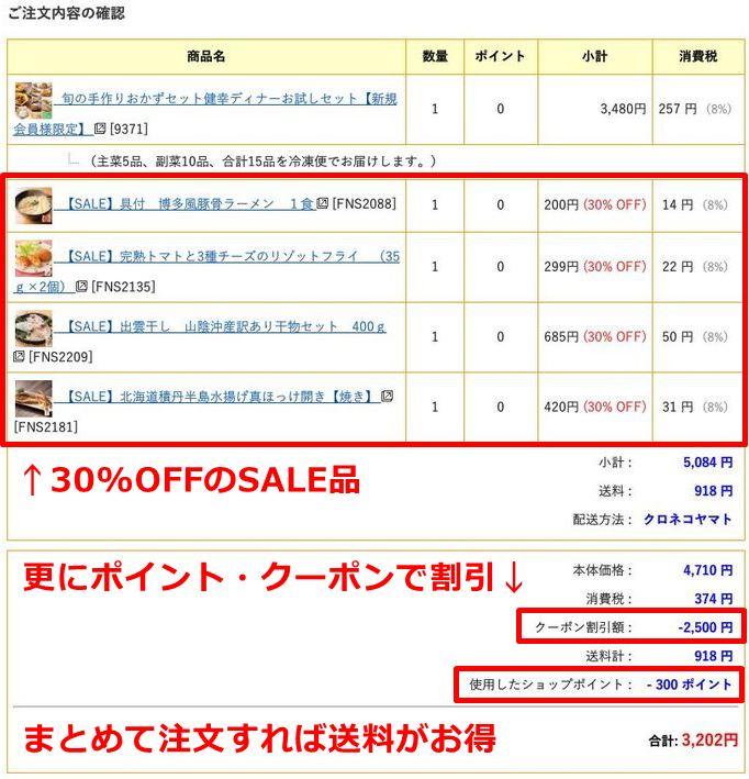 わんまいるの初回限定セットに追加注文して、誕生日クーポンで2500円割引にするとお得