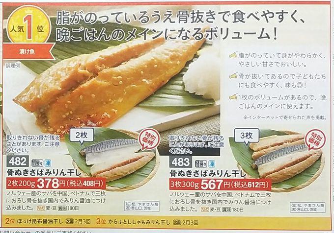 パルシステム人気ランキング(漬け魚)