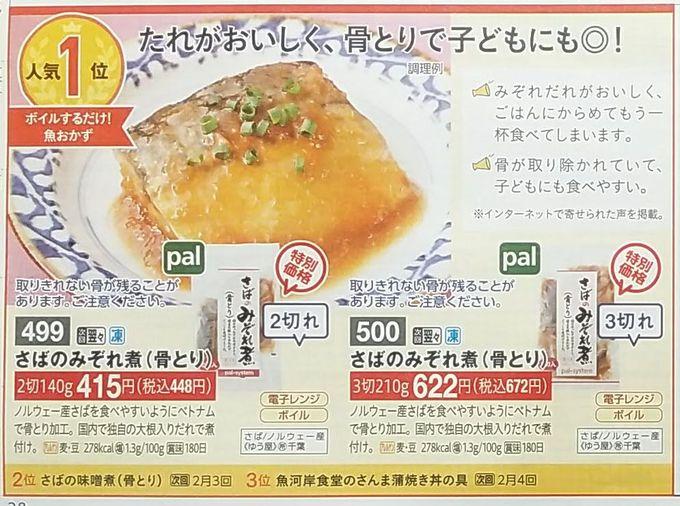 パルシステム人気ランキング(魚おかず)