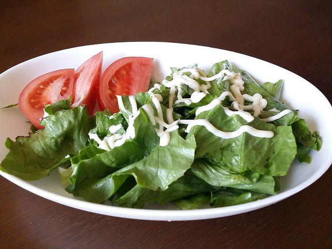 パルシステムのもったいないグリーンセットで作ったサラダ