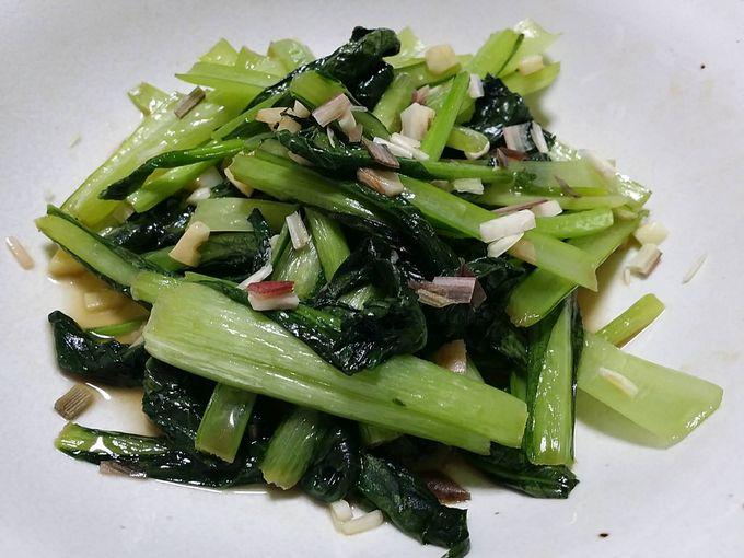 大地を守る会の小松菜の炒めもの