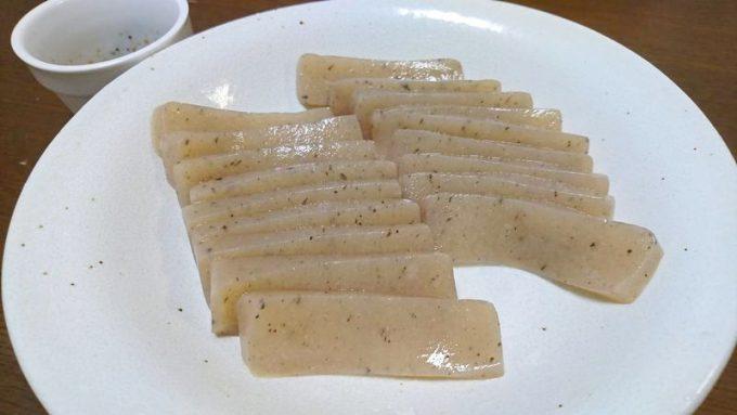 らでぃっしゅぼーやの生芋 板こんにゃくを刺し身で食べる
