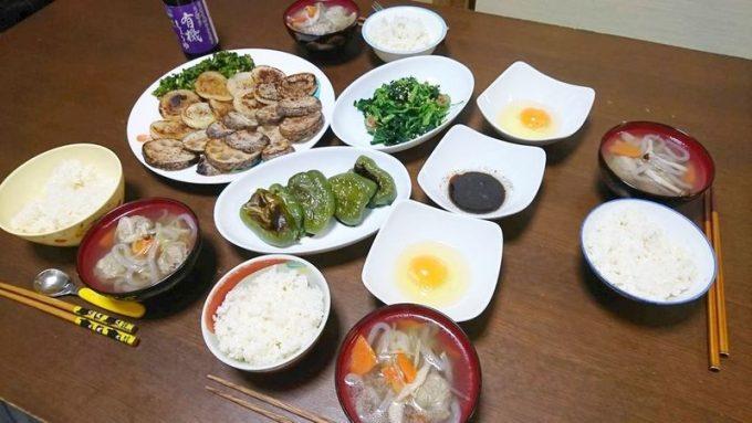 らでぃっしゅぼーやのお試しセットで作った食事(1日目)