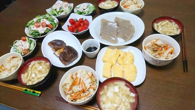 らでぃっしゅぼーやのお試しセットで作った食事(2日目)