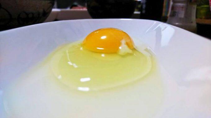 秋川牧園の卵(黄身のふくらみ)