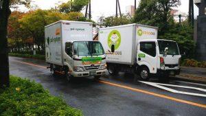 コープデリとパルシステムの配送トラック